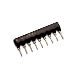 8 Commoned Resistors - 9 Pin Package