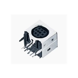 Mini DIN socket fully screened