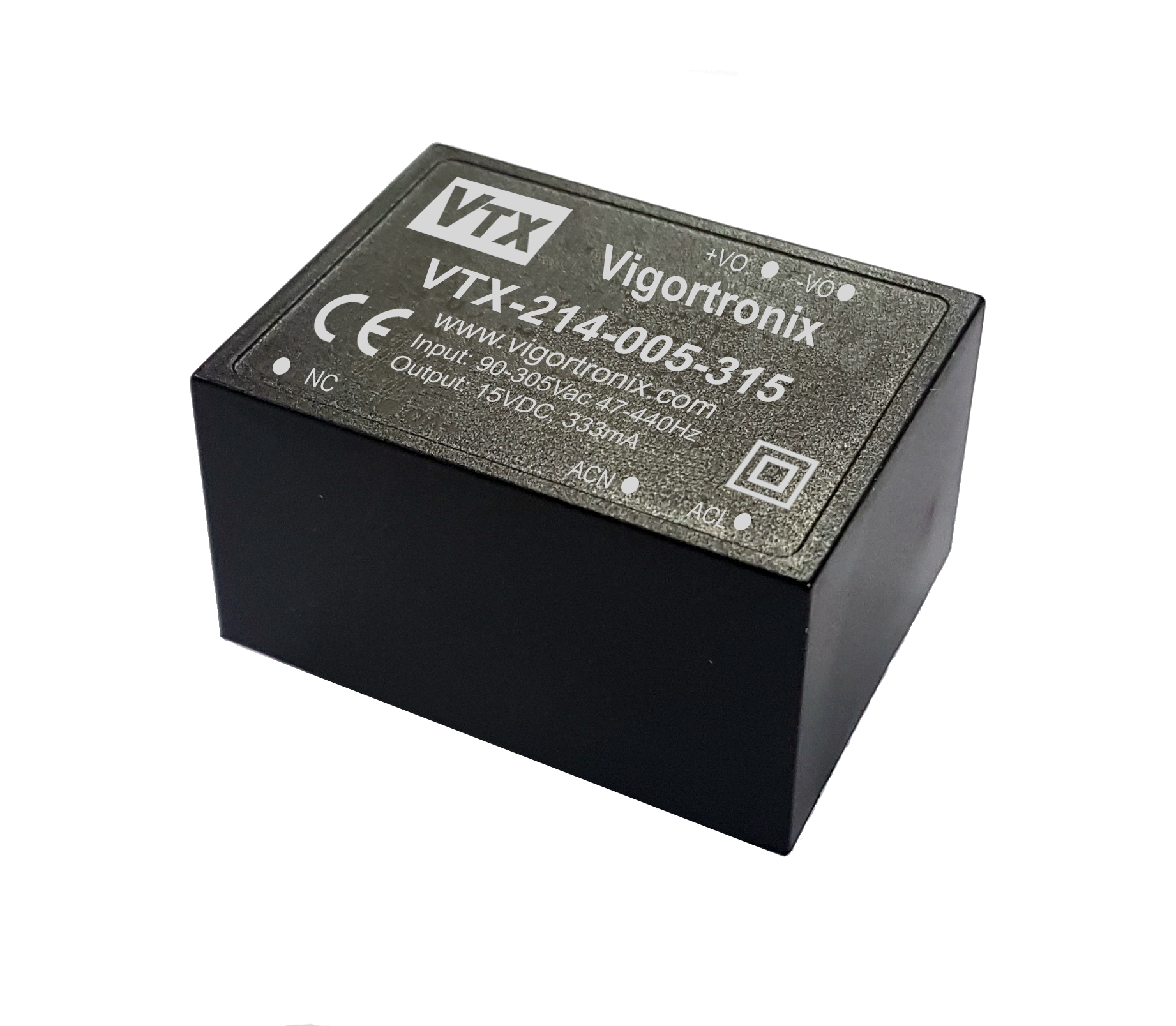 Vigortronix VTX-214-015-105 15 W SMPS AC-DC Converter output 5 V