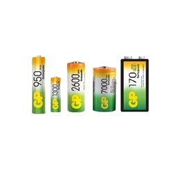 Ni-MH high capacity rechargeable batteries - GP