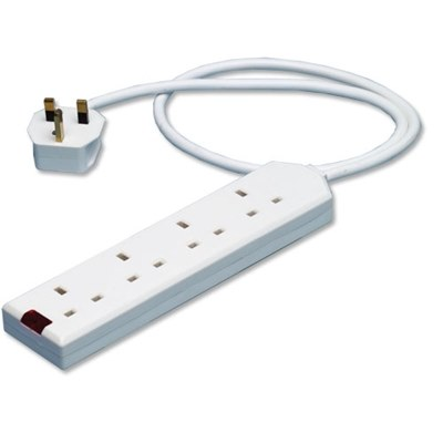 Mains Extension Socket - 4 Way