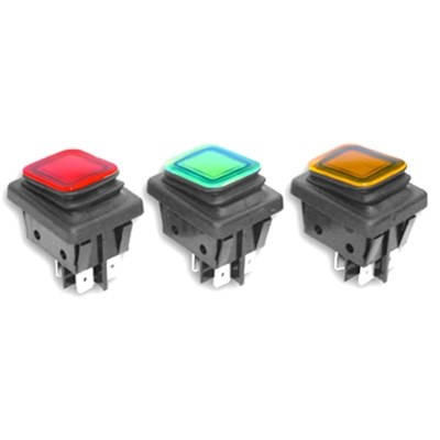 Everel B4MASK Series IP65 Sealed Rocker Switches