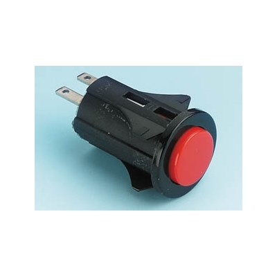 Everel P Series 16mm Circular Mains Push Switch