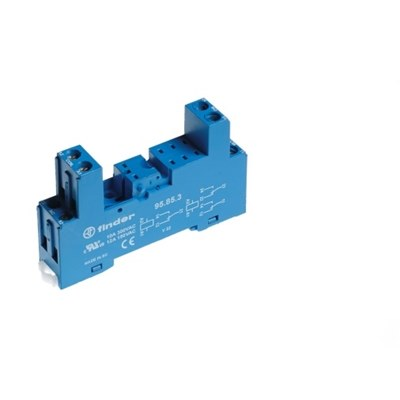 Finder 40 Series PCB Mounting DIN Rail Sockets