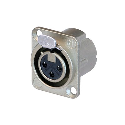 NC3FD-LX 3 Pole Female Receptacle Nickel Housing Silver Contact