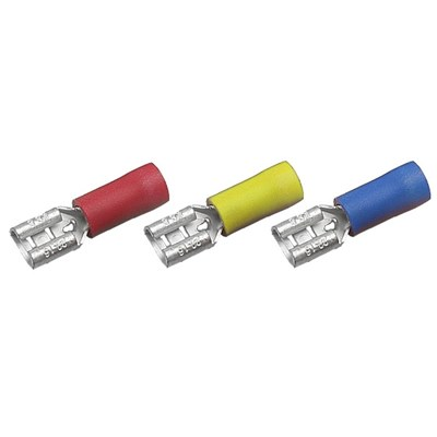 Pack 100 Female Push-on Receptacle 12A Red 4.8x0.8