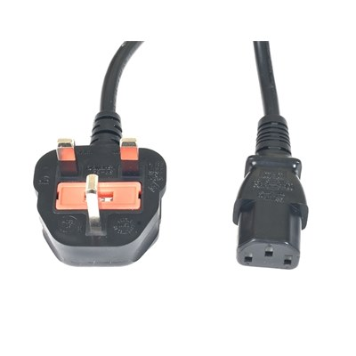 IEC straight socket to 13A plug.