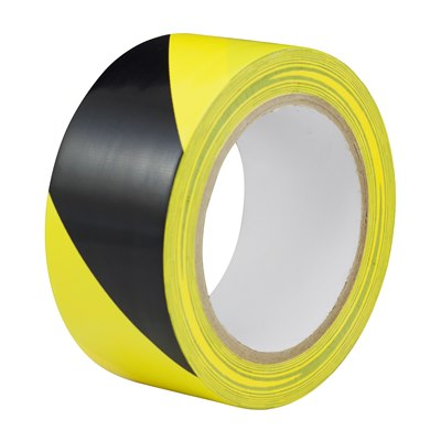 Adhesive Hazard Warning Tape Black/Yellow