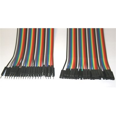 Arduino Male-Female 40pcs 20cm jumper wire set.